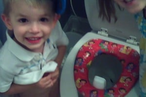 Dylan pooped in the potty!