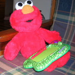 elmo with doodle